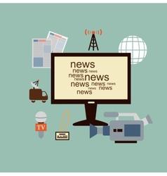 journalist says TV news vector image