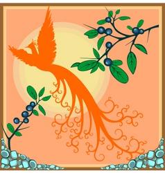 exotic bird vector image