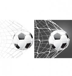 Score a goal soccer ball vector