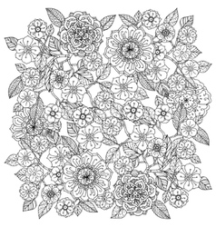 Floral ornament art of mandala style zentangle vector