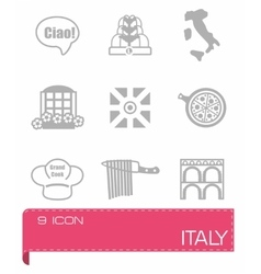 Italy icon set vector