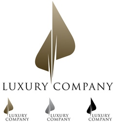 Luxury business emblem vector