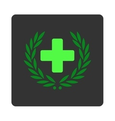 Medical glory flat button vector