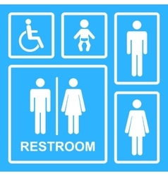 Restroom icons vector