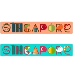 Singapore title with vector