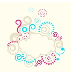 Abstract swirls frame vector
