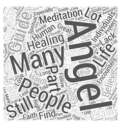Angel guide healing meditation word cloud concept vector