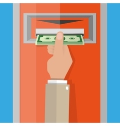 ATM Money withdrawal vector image vector image