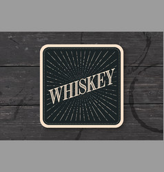 Beverage coaster for glass with inscription vector