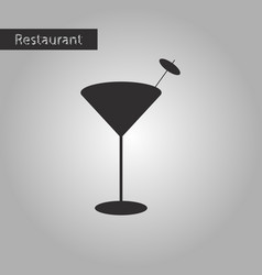 Black and white style icon martini glass vector