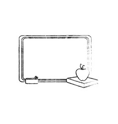 blackboard with books vector image