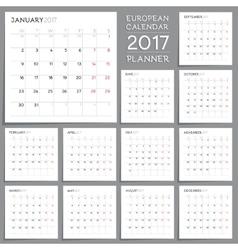 Calendar Planner Design Week starts from Monday vector image