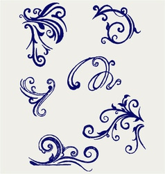 Calligraphic design element and page decoration vector image vector image