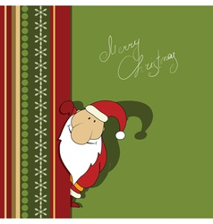 christmas with santa vector image vector image