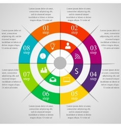 Circle infographic template vector