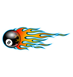 Classic tribal hotrod muscle car flame with 8 ball vector