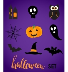 Collection of halloween stickers for your design vector image vector image