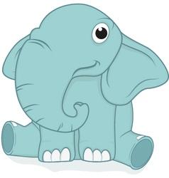 cute elephant baby vector image vector image