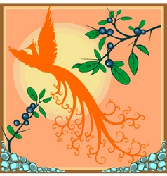exotic bird vector image vector image