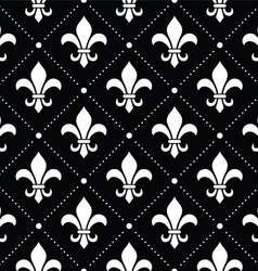 French Damask background - Fleur de lis pattern vector image
