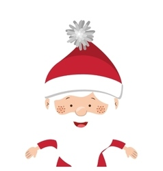 full color santa claus half body vector image