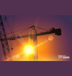Highrise tower crane vector