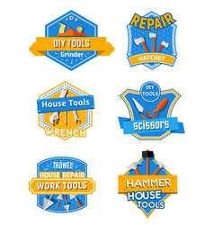 Home repair construction work tools icons vector