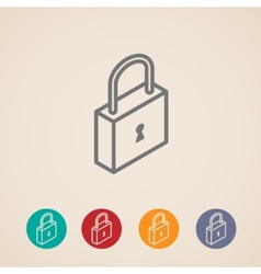 Isometric lock icons vector