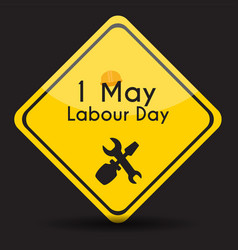 Labour day 1 may poster vector