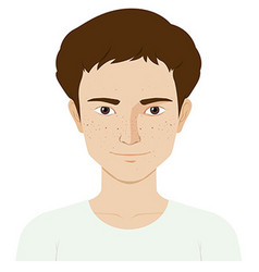 Man with skin problem vector
