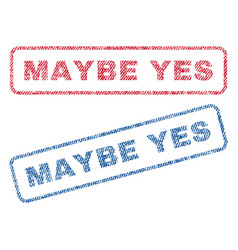 Maybe yes textile stamps vector