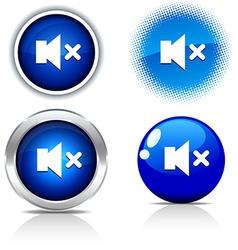 Mute buttons vector