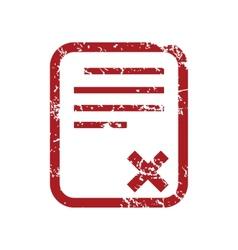 Red grunge no document logo vector