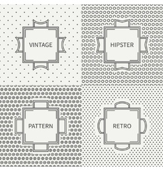 Set of hand drawn line ink seamless pattern with vector image vector image