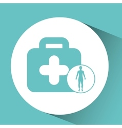 Silhouette person medical first aid icon design vector