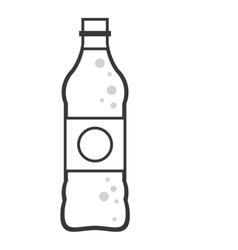 Soda bottle icon vector