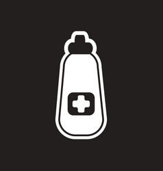 Stylish black and white icon medicine bottle vector