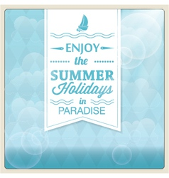 Summer holiday card design vector