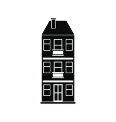 Three-storey house icon vector image vector image