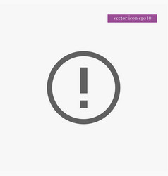 warning icon simple vector image vector image