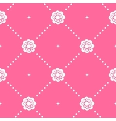 Pink pattern seamless in baroque style vector