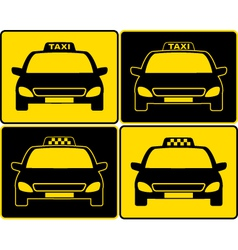 Set of taxi cars sign vector