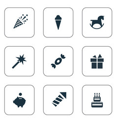 Set of simple celebration vector