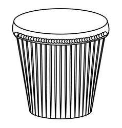 Carnival bongo isolated icon vector