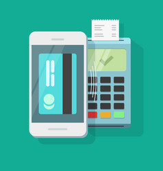 Mobile payment processing wireless technology vector