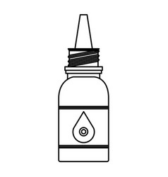 Medicine eye drop bottle vector