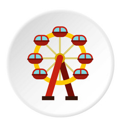 Ferris wheel icon circle vector