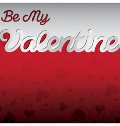 Be my valentine textured heart card in format vector