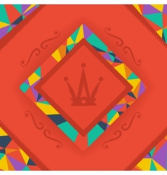 Background bright and crown symbol vector image