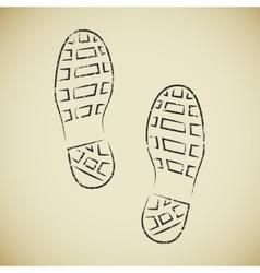 Boots footprints vector image